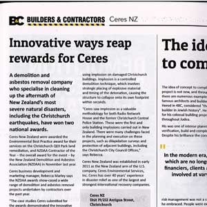 Ceres contractor of the year
