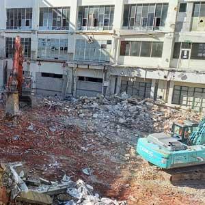 Cadbury factory demolition project